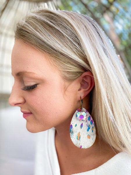Keep it Gypsy rainbow foil tear drop earring