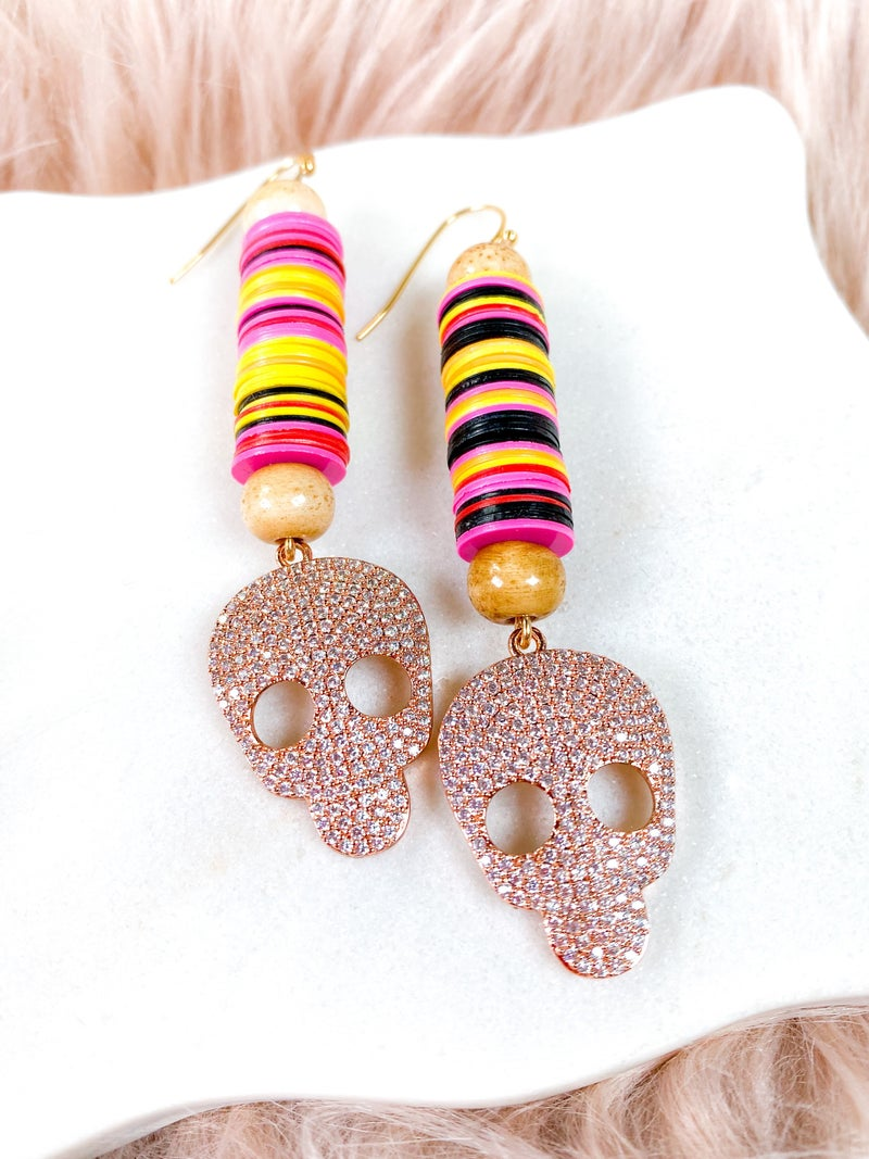 Karli Buxton Crazy Bone Drop Earrings (Multiple Colors)