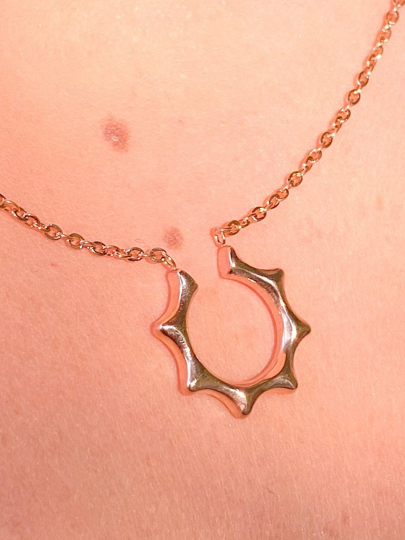 Half Sun Clavicle Necklace (Multiple Colors)