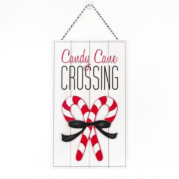 Candy Cane Crossing Sign 10x17.5