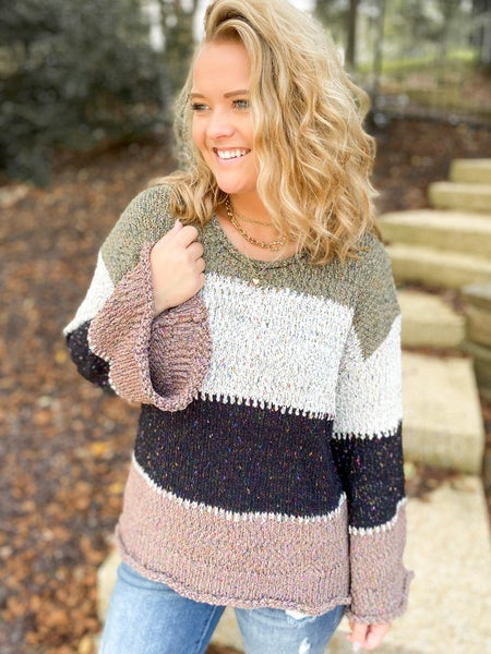 Spotted Chic Bold Stripe Sweater