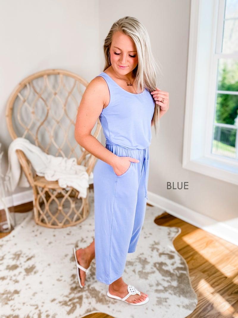 Door Buster! PLUS/REG Zenana Sleeveless Jumpsuit With Drawstrings & Pockets (Multiple Colors)
