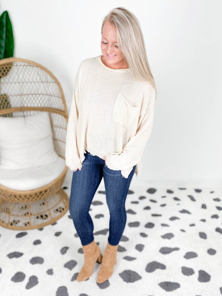 Oversized Boxy Knit Sweater Top (Multiple Color)
