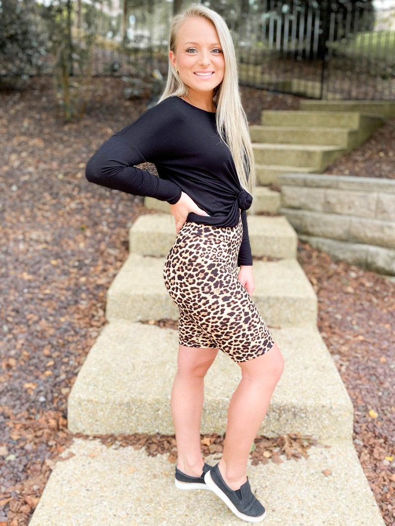 Leopard Bicycle Shorts