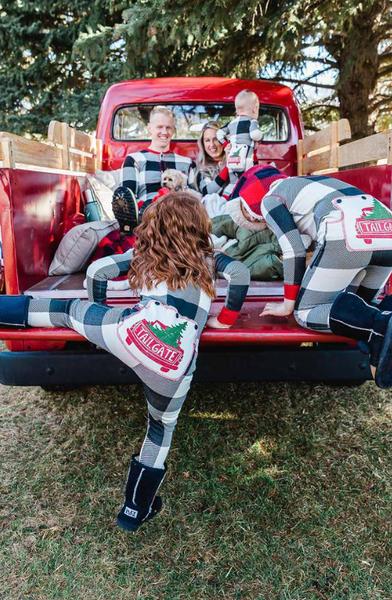Family Matching Flap Jack Pajamas Tailgate