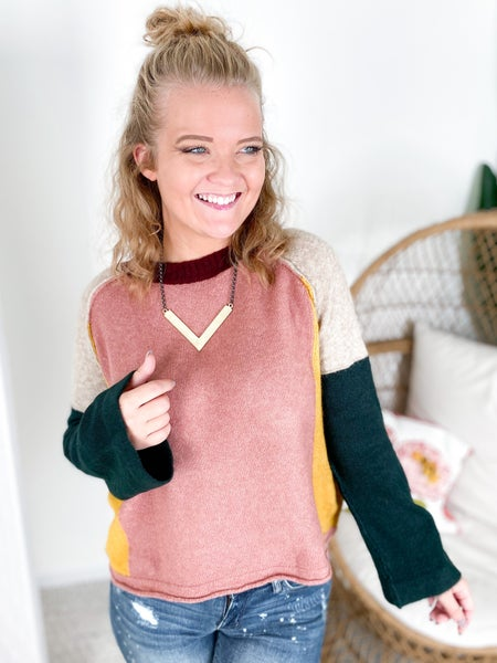 Color Block Happiness Sweater (Multiple Colors)