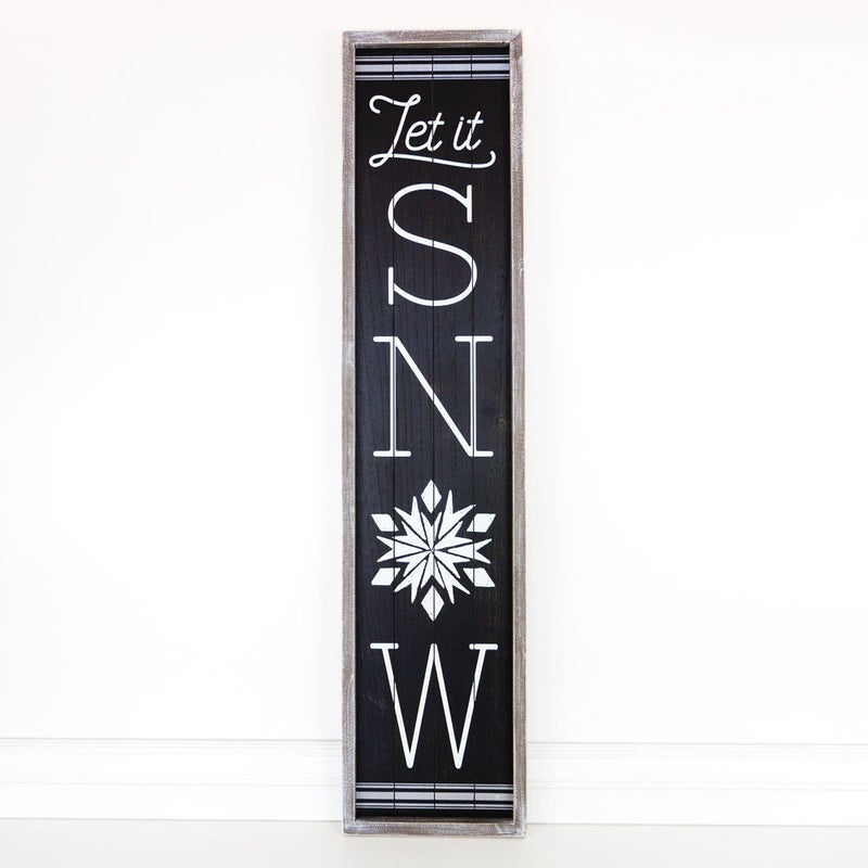 Let it Snow Wooden Sign 10x46