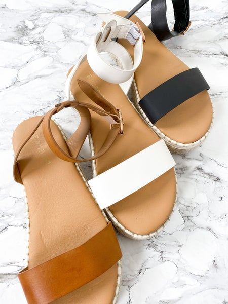 Espadrille Wedge Strap Sandal (Multiple Colors)