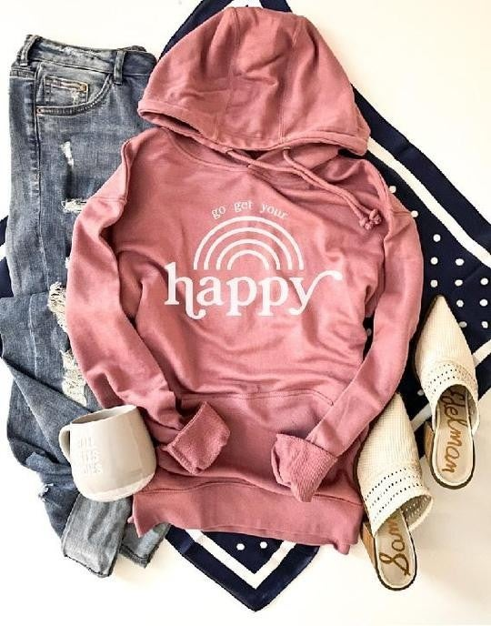 Get Your Happy HOODIE!!! Lots of colors