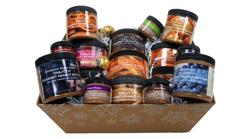 Gourmet Peanut Butter Assorted Gift Baskets (Multiple Options)