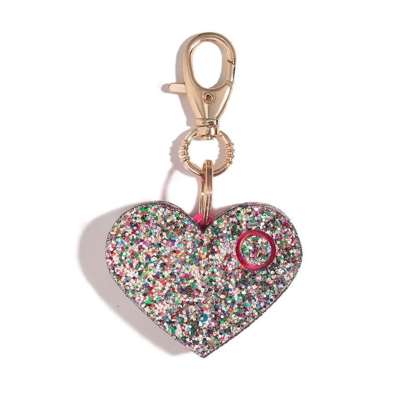 RESTOCK! Glitter Heart Super Loud Personal Alarm & LED Light (Multiple Options)