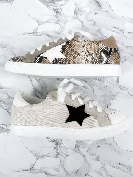 Low Top Cozy Sneaker with Star (Multiple Colors)