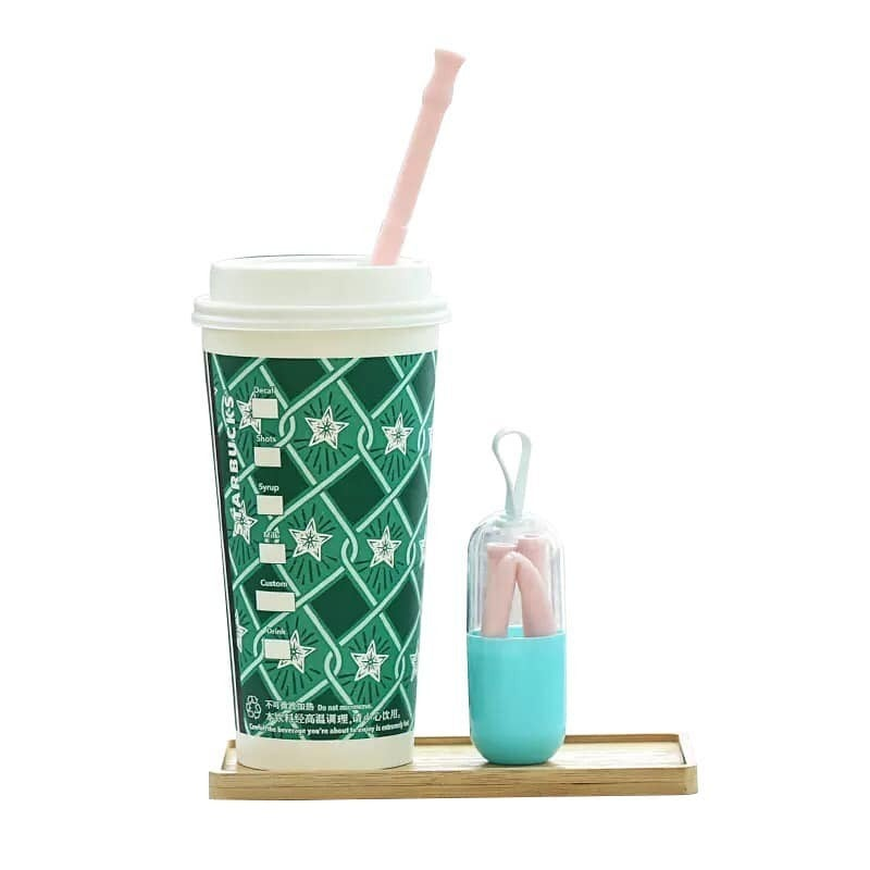 RESTOCK!!!! MYSTERY StrawPods - Reusable Silicone Straw set