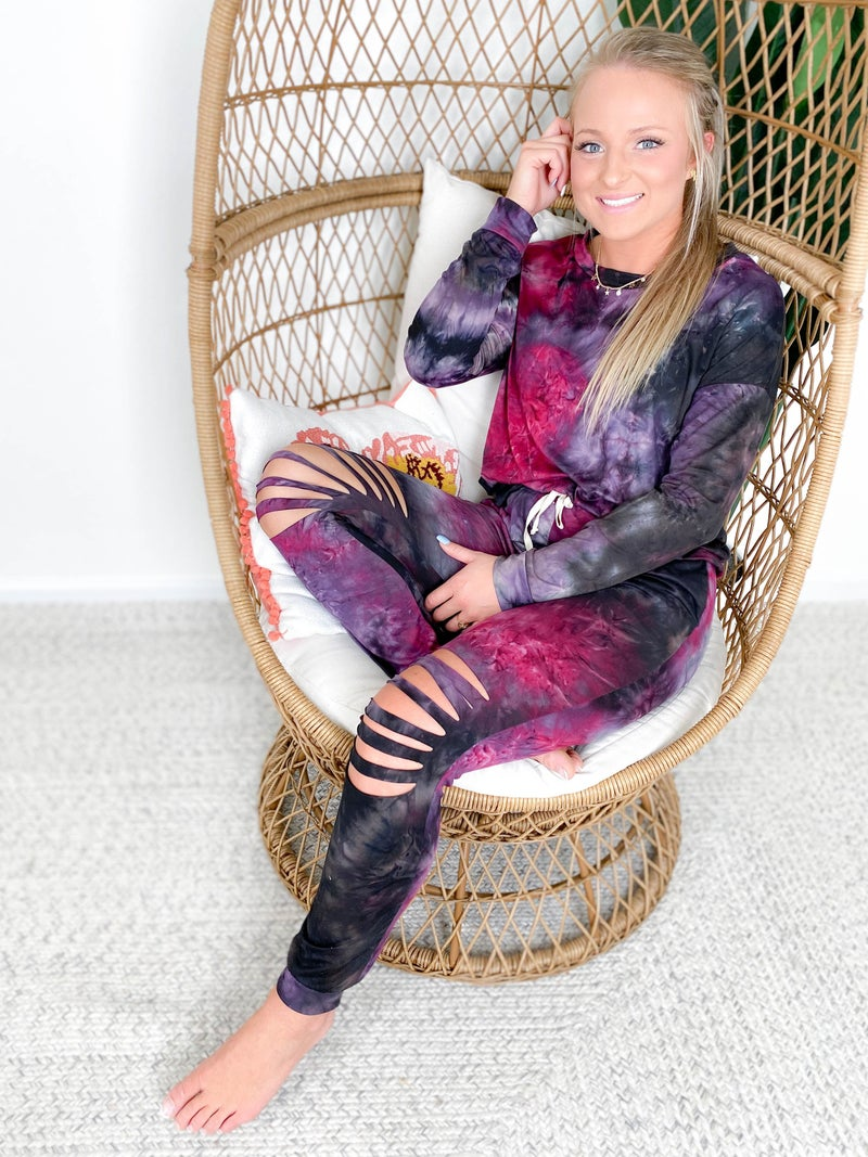 PLUS/REG Galaxy Tie Dye Lounge Set (Multiple Colors)