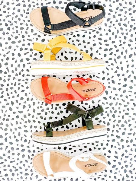 Soda Velcro Strap Sandal
