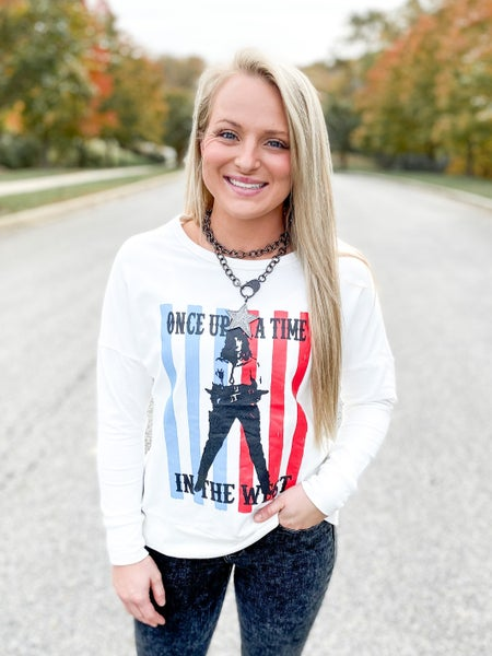 POPPY DAY!!! PLUS/REG Once Upon a Time Graphic Pullover Top