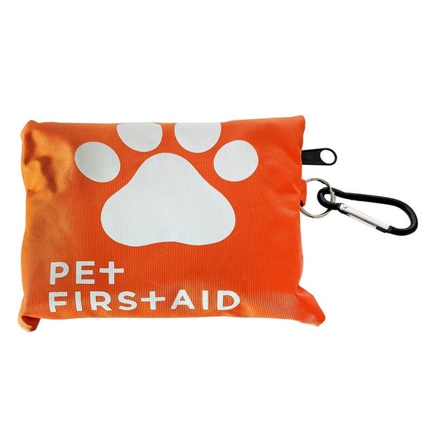 19pc Travel Pet First Aid Kit with Carabiner