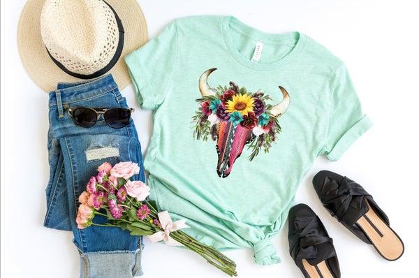 Floral Bull