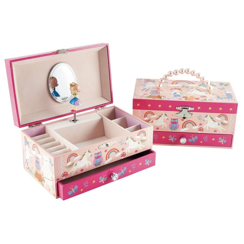 Rainbow Woodland Musical Jewelry Box