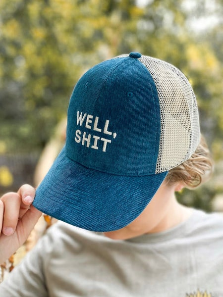 Well Shit Corduroy Trucker Hat