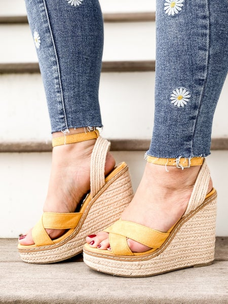 Strappy Platform Wedge Sandals (Multiple Colors)
