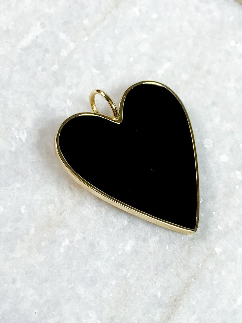"""Karli Buxton 1.5"""" Enamel Heart Pendants (Multiple Colors)"""