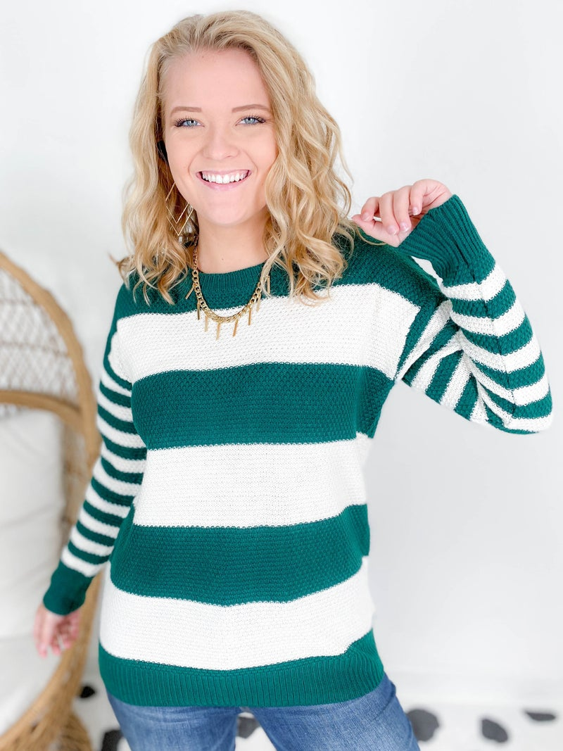 Doorbuster! Zenana Multi Stripe Sweater (Multiple Colors)