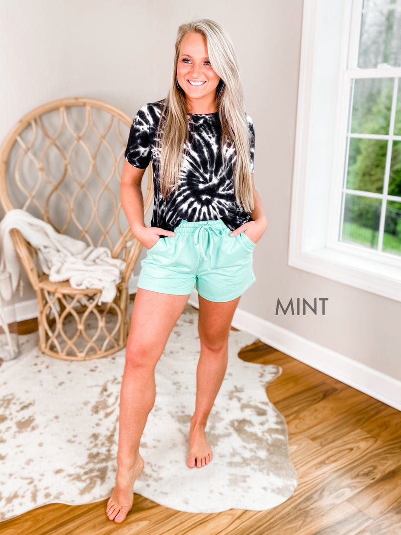 Door Buster! PLUS/REG Zenana French Terry Shorts With Drawstring Waist (Multiple Colors)