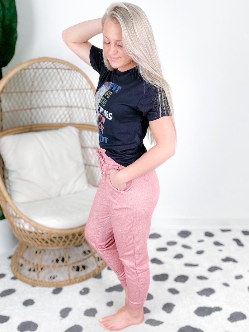 Door Buster! PLUS/REG Zenana Melange Jogger Sweatpants (Multiple Colors)