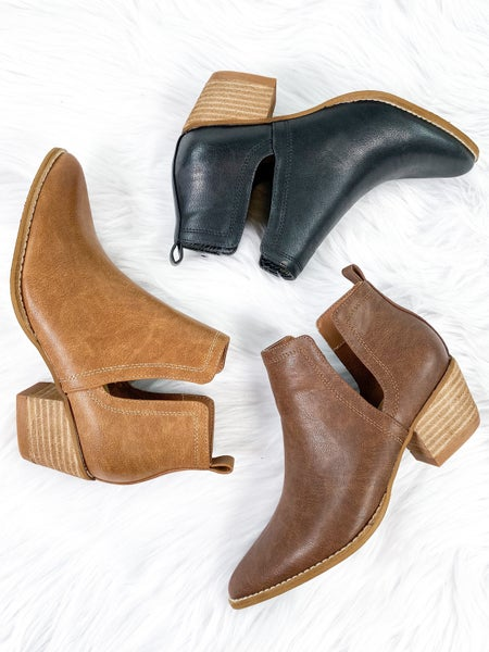 BEAST Ankle Booties with V Cutout (Multiple Colors)