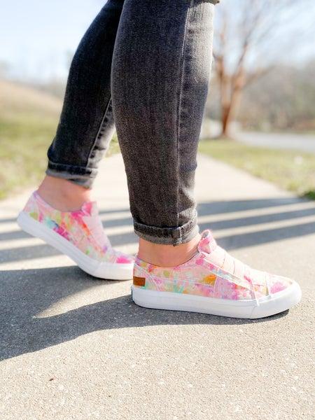 Blowfish Pink Rainwater Canvas Slip On Sneakers