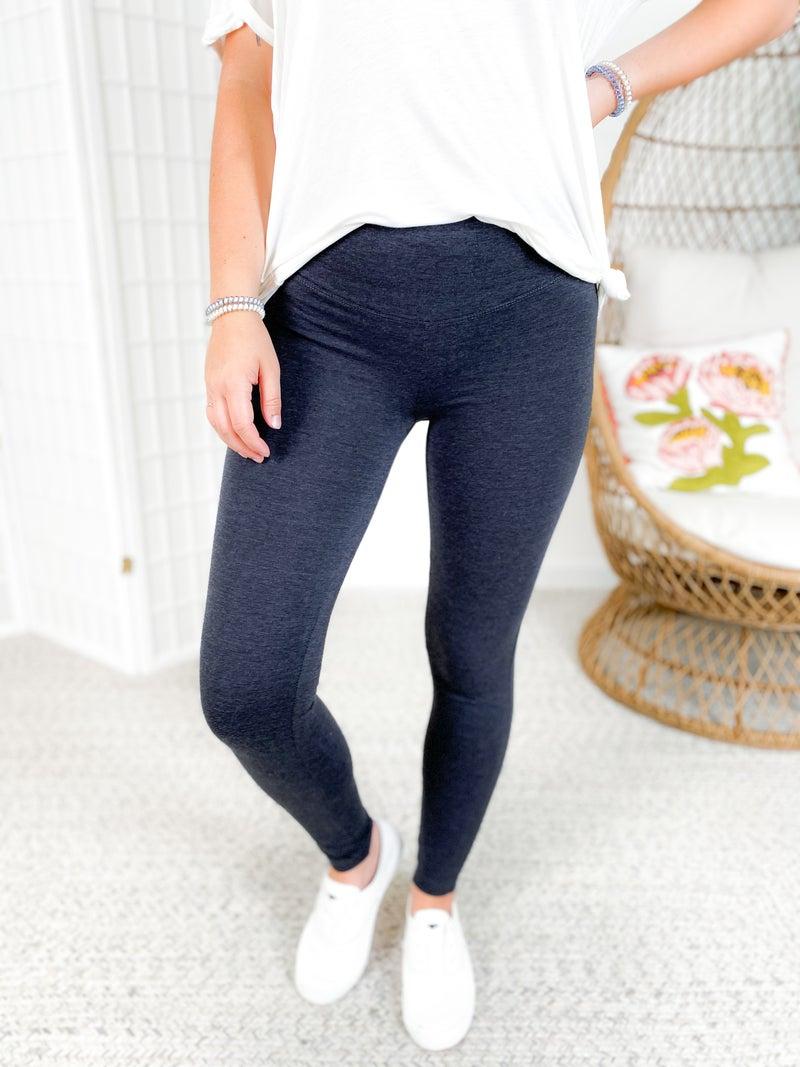 Door Buster!! PLUS/REG Cotton Wide Waistband Leggings (Multiple Colors)