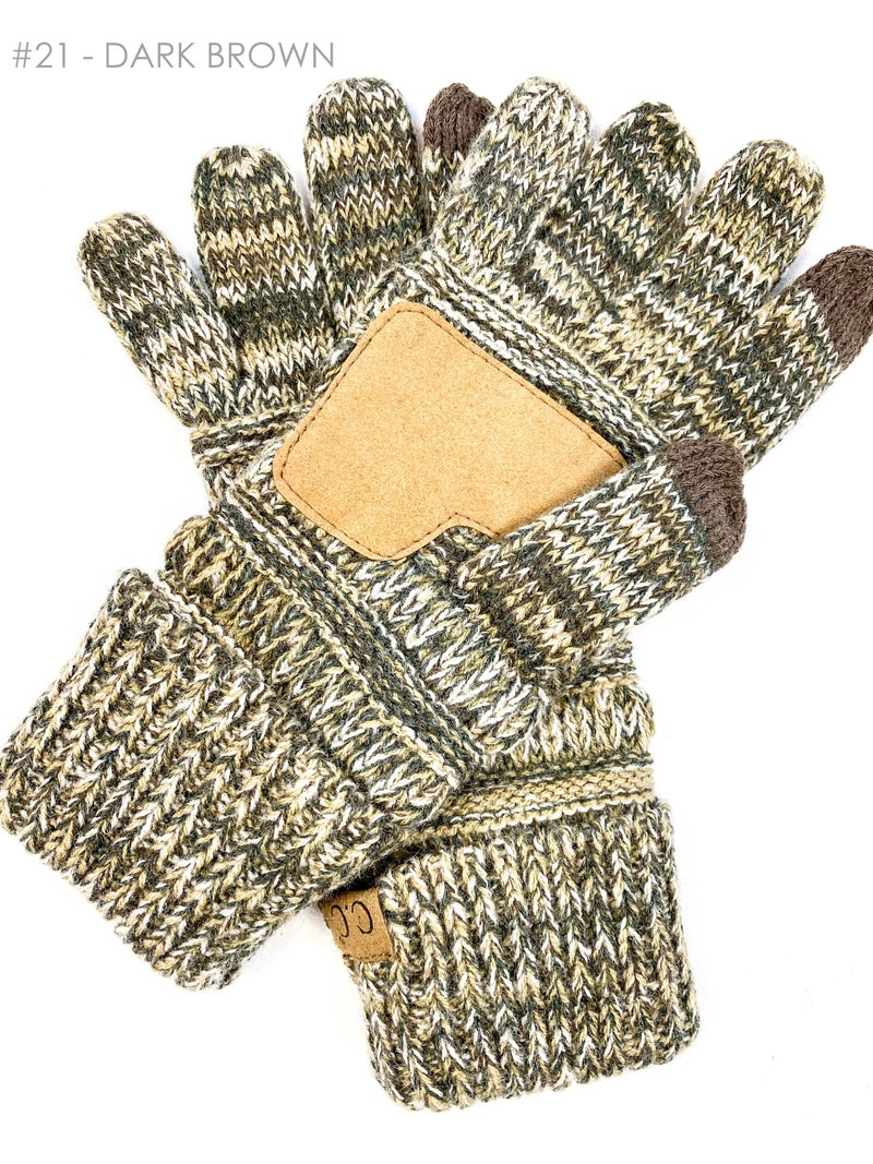 CC Four Tone Touch Screen Gloves (Multiple Colors)