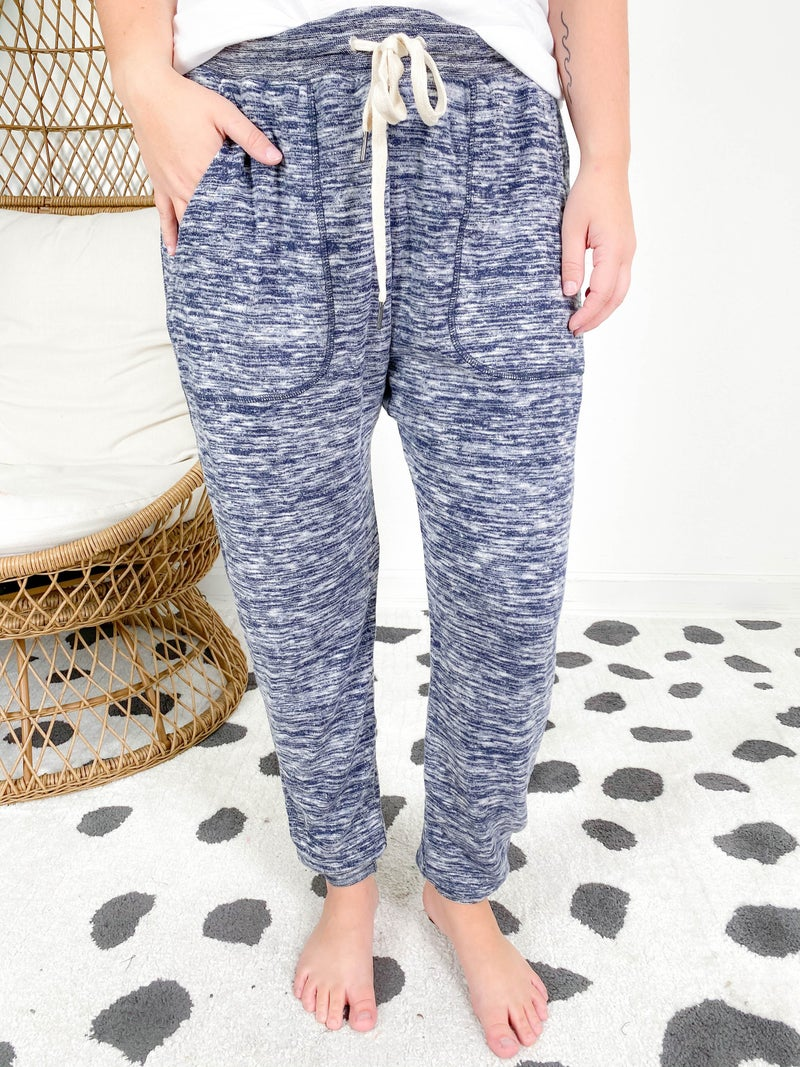 Soft Brush Heathered Jogger Pants (Multiple Colors)