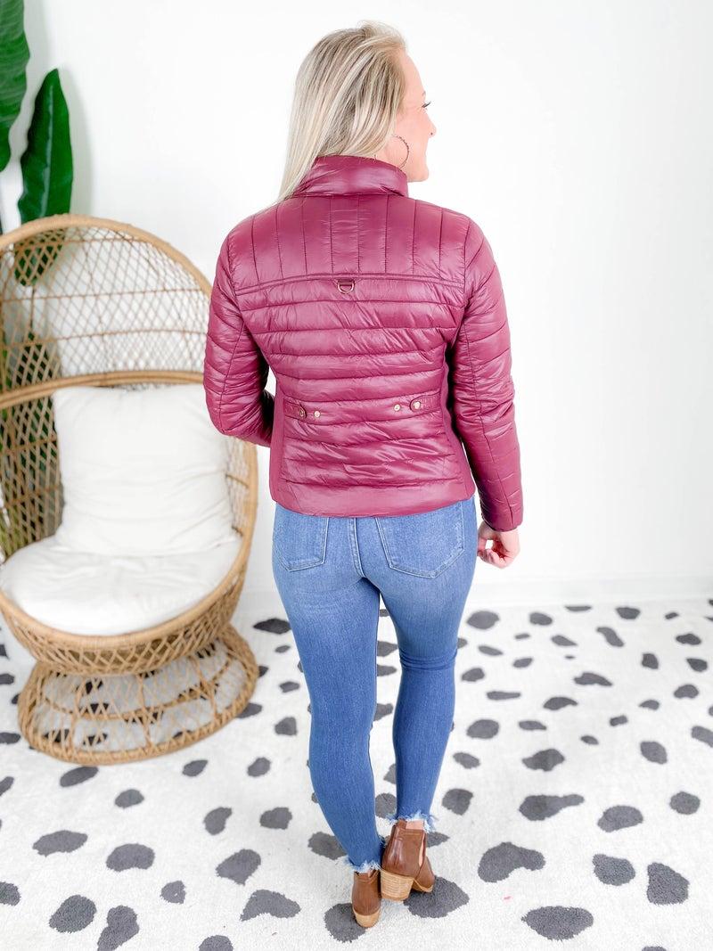 Lightweight Padded Zip Up Puffer Jacket