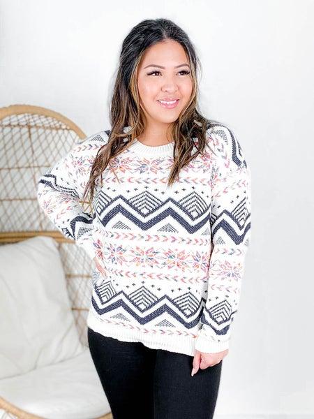 RESTOCK!! Aztec Pattern Knit Sweater