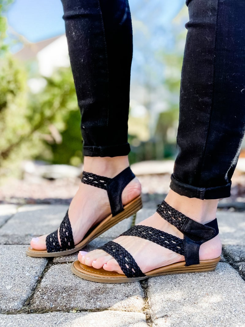 Blowfish Strappy Braided Sandals (Multiple Colors)