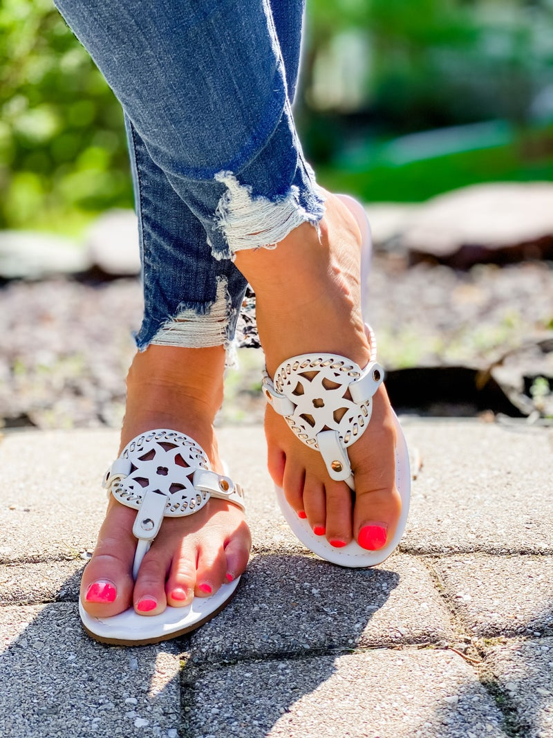 Decorative Slip On Sandals (Multiple Colors)