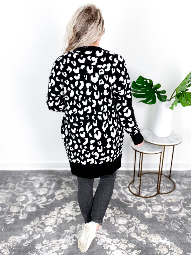 Leopard Open Front Cardigan (Multiple Colors)