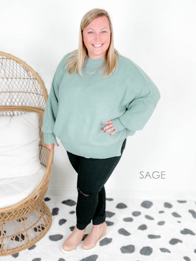 Door Buster! Zenana Oversized Ribbed Sweater (Multiple Colors)
