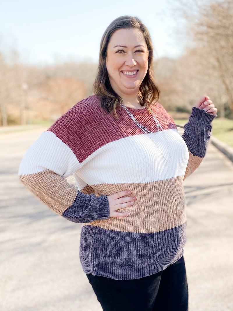 Soft Color Block Sweater (Multiple Colors)
