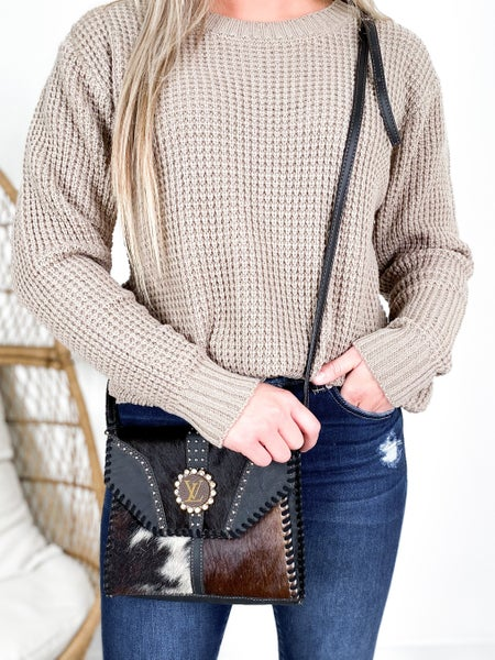 Keep it Gypsy Upcycled Authentic LV Crossbody Bag