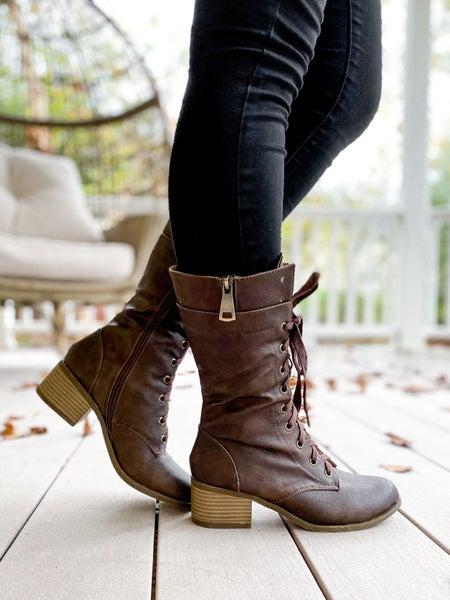 Lace Up Combat Boots (Multiple Colors)