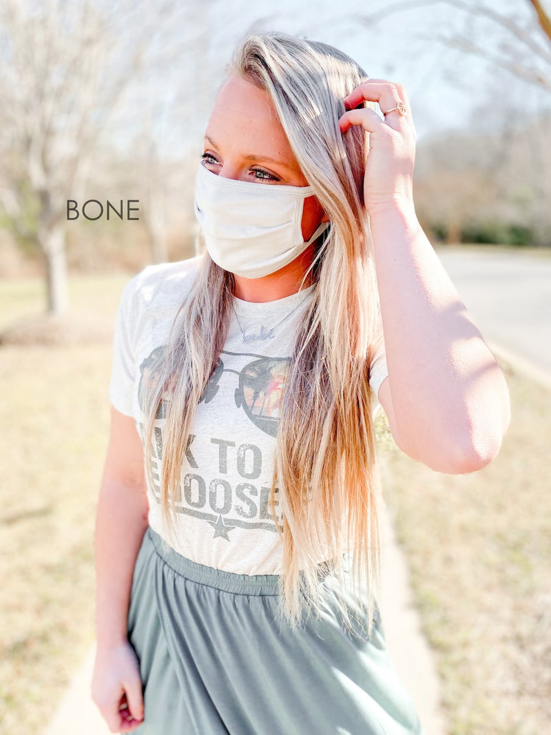 Door Buster! ONE SIZE Zenana Solid Washable Cotton Mask (Multiple Colors)