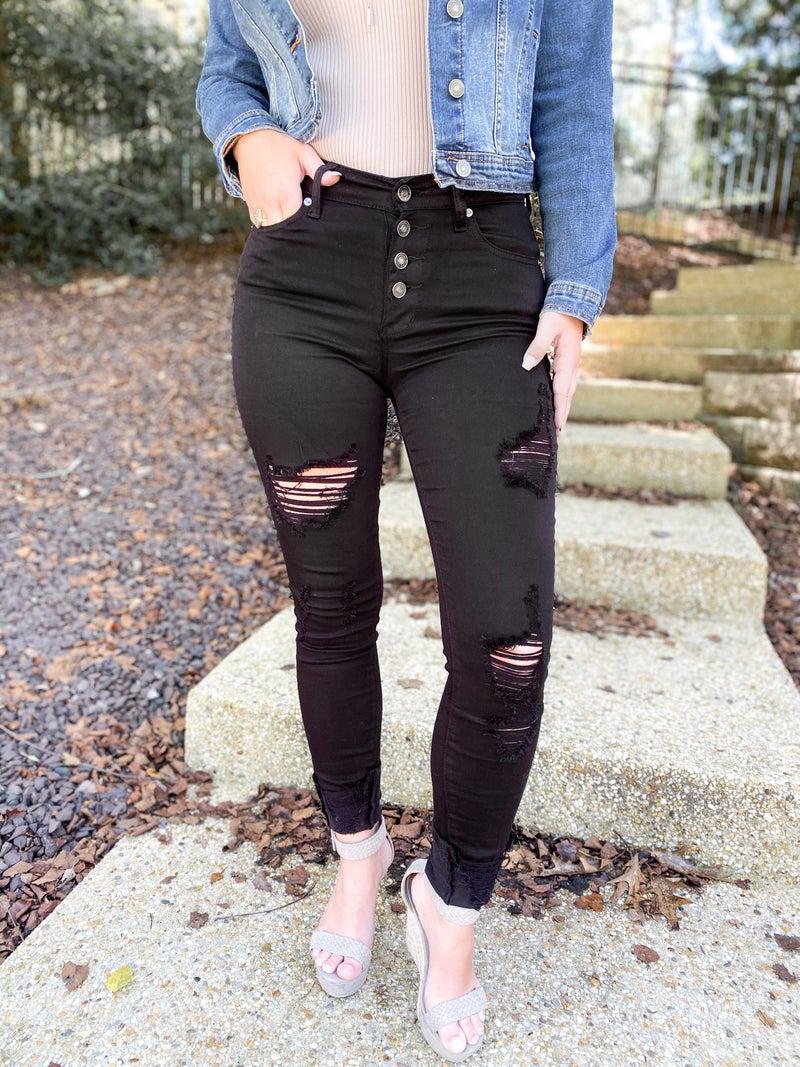 KanCan Rockstar Black Skinny Jeans