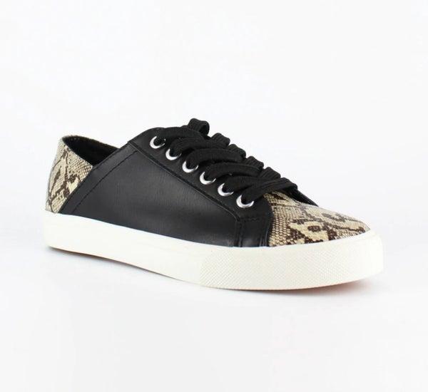 Snake Embossed Slip on Sneakers