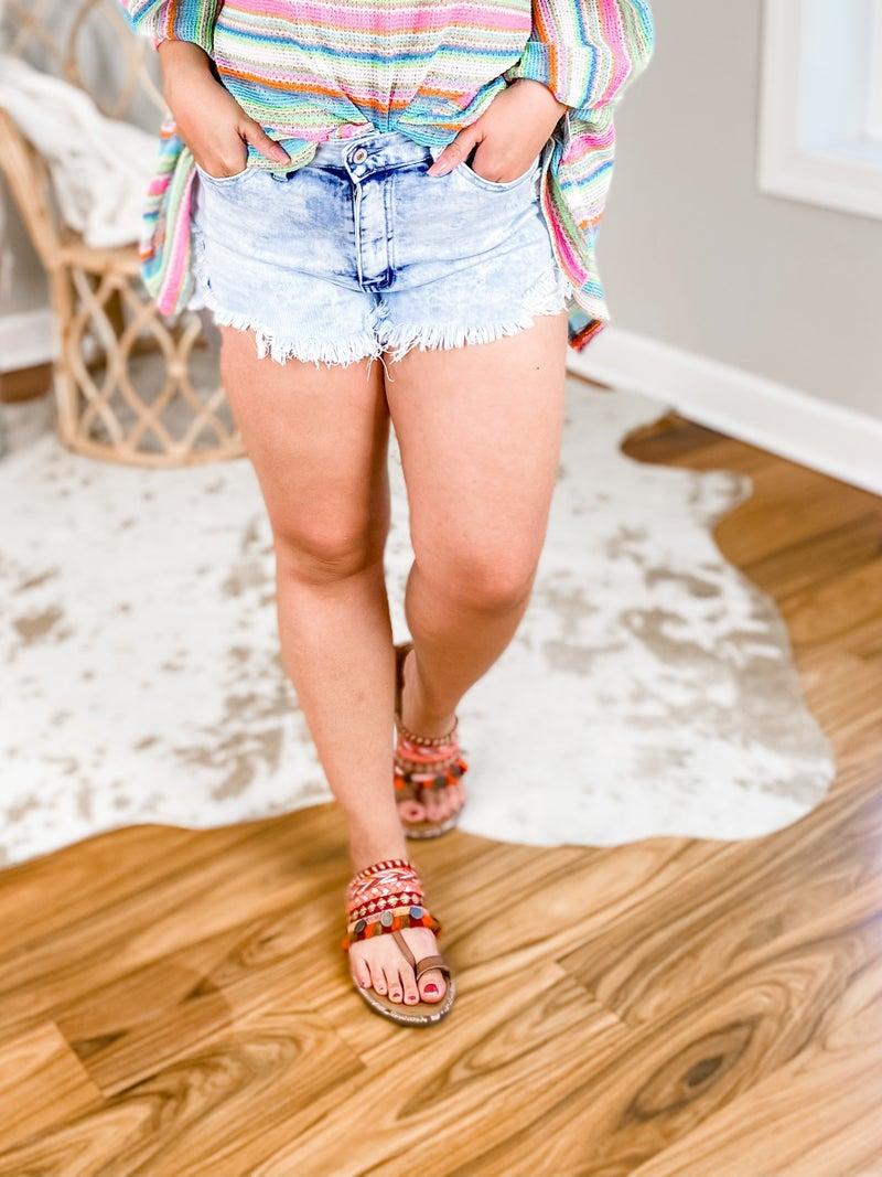 KanCan Acid Wash Cut Off Shorts