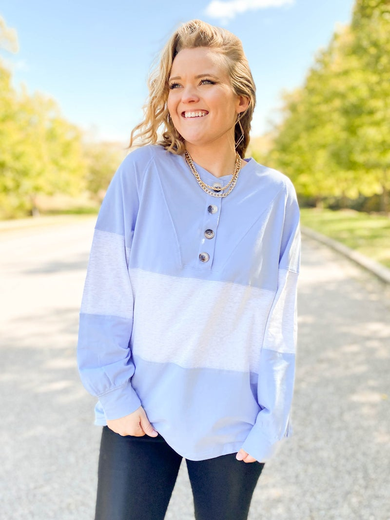 Color Block Button Down Top (Multiple Colors)