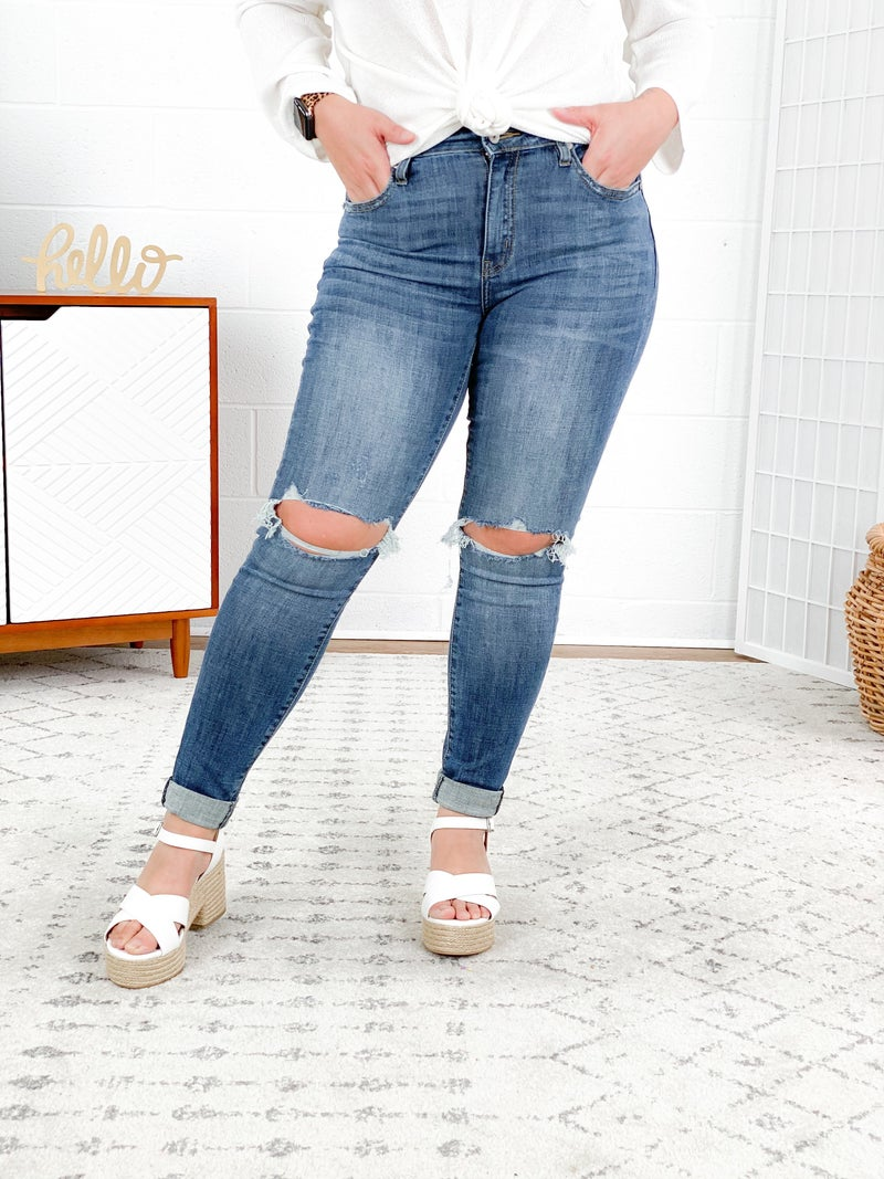 Plus/Reg KanCan All About That Grain Skinny Jeans (Great for Tall Gals!)