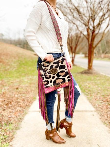 Keep It Gypsy Upcycled LV Crossbody Bag